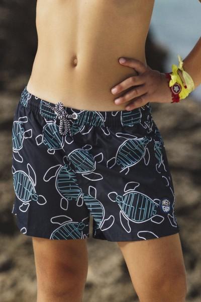 Bocer da mare da bambino con fantasia con tartarughe stilizzate Sweet Years.