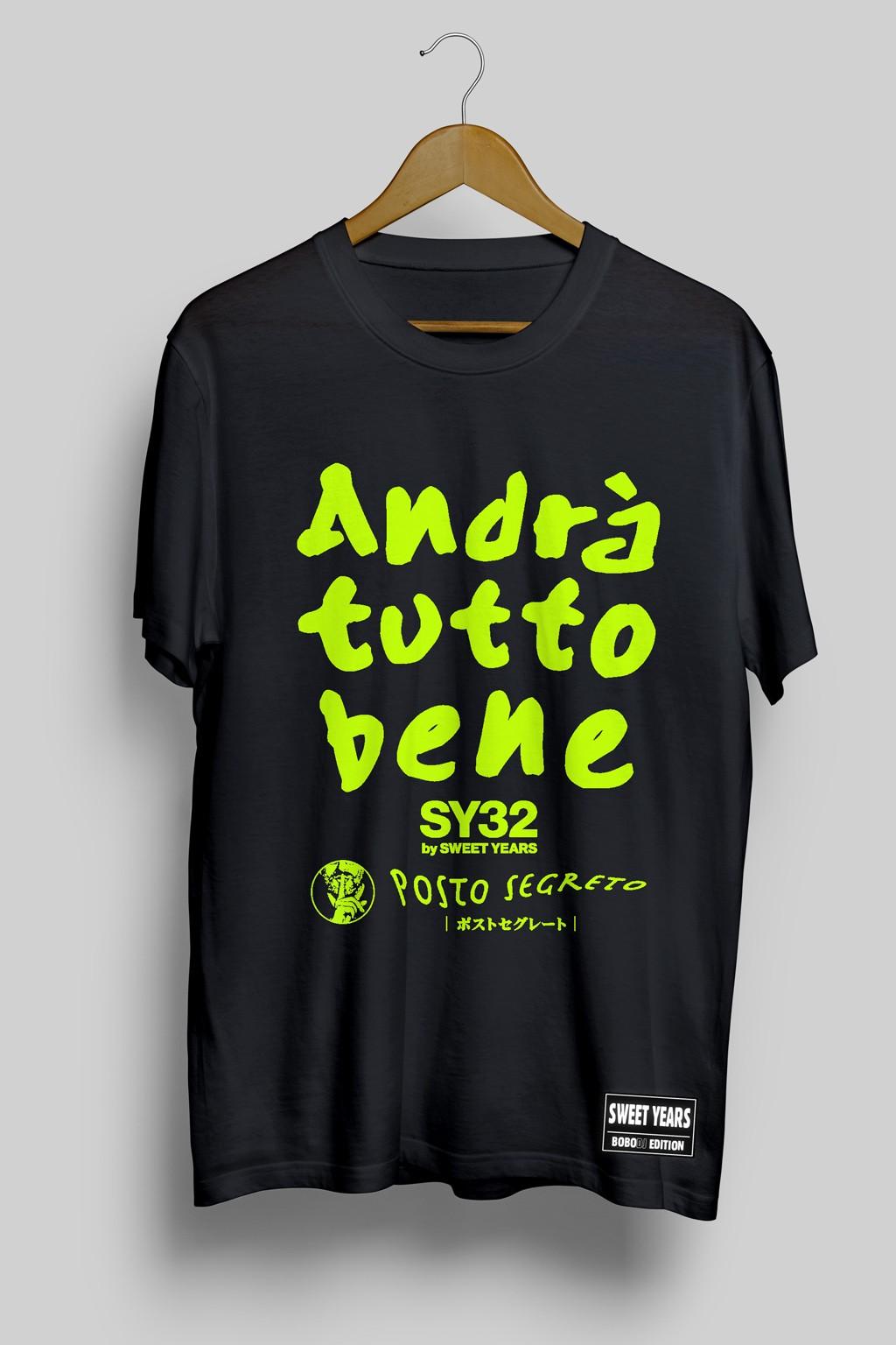 T-shirt Sweet Years edizione limitata Andrà Tutto Bene per Covid19.