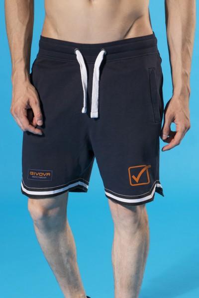 Pantaloncini in felpa leggera Givova con stampa colorata e coulisse.