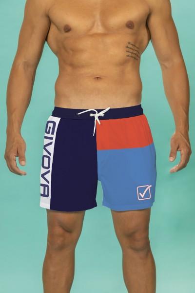 Boxer mare Givova multicolor con stampa marchio.