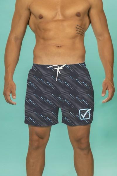 Boxer mare Givova multicolor a righe e pois con stampa marchio