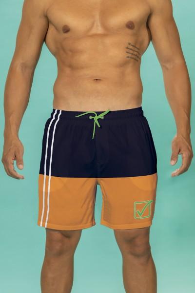 Boxer mare Givova bicolore con stampa marchio.