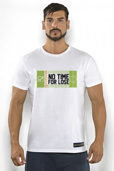 T-shirt uomo Givova in cotone tinta unita con stampa campo calcio.