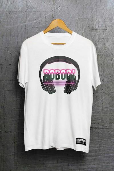 T-shirt in cotone della collezione Bobo Collection con stampa centrale Bobo Dj.
