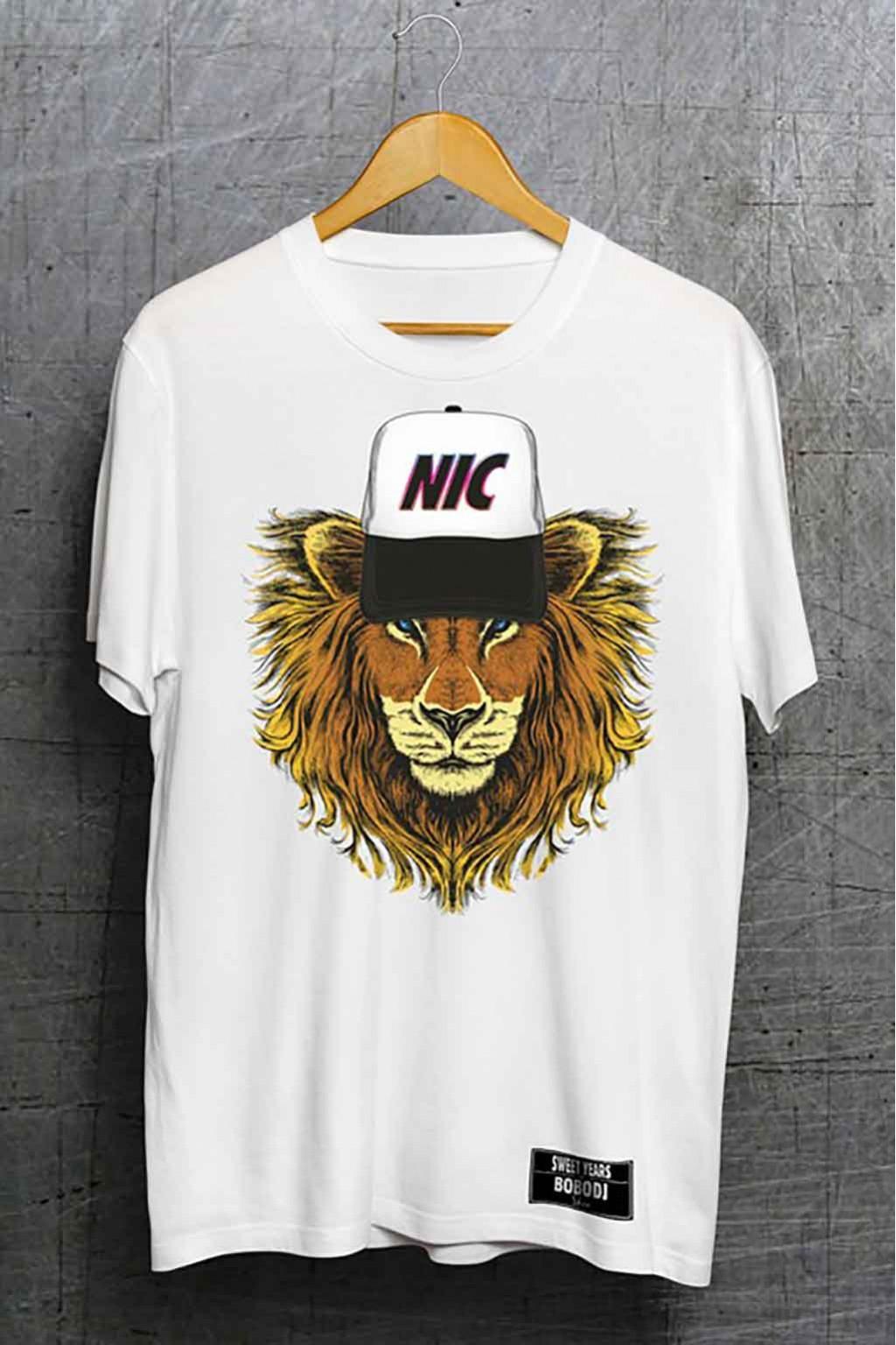 aspetto dettagliato dd23a dc63d T-shirt da uomo bianca Sweet Years della collezione Bobo Dj con leone  Taglia L Colore Bianco