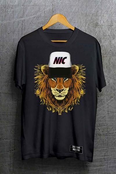 T-shirt in cotone della collezione Bobo Collection con stampa centrale leone.