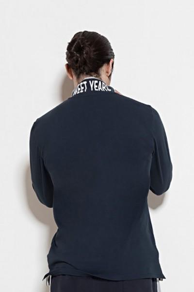457f5bae4a60 Polo a manica lunga in cotone piquet con stampa del marchio sul colletto.