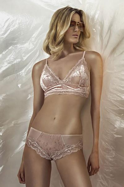 Reggiseno bralette in pizzo e ciniglia della collezione lingerie Sweet Years.
