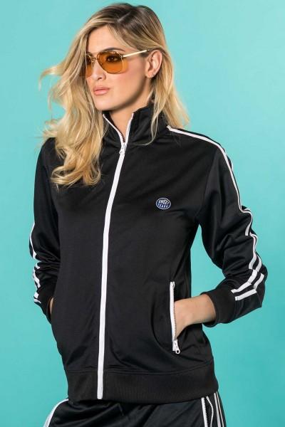 Giacca donna sportiva in acetato con zip e colletto Sweet Years.