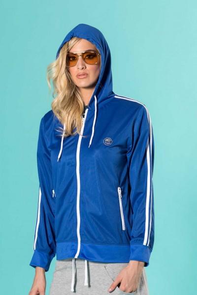 Giacca donna sportiva in acetato con zip e cappuccio Sweet Years.