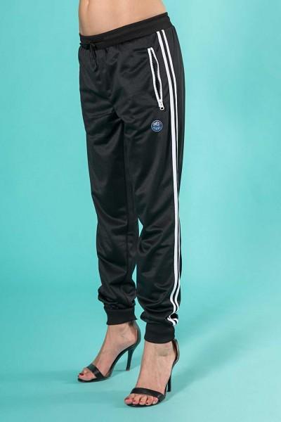 Pantalone donna sportivo in acetato con bande laterali Sweet Years.