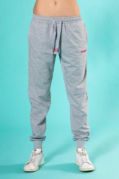 Pantalone sportivo donna in felpa leggera con coulisse e elastici sul fondo Sweet Years.